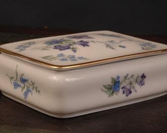 Blue Flowers on Thomas Porcelain Box, Germany