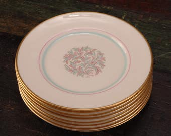 Franciscan China, Rossmore Salad Plates, Set of 8