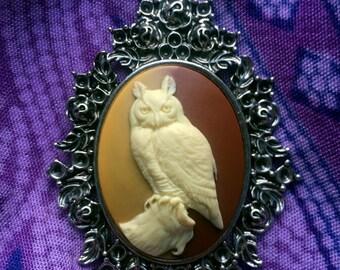 Owl Cameo Necklace
