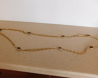 "52"" Thriple Strand Sarah Coventry Necklace - Great Chains Great Design and Detail"