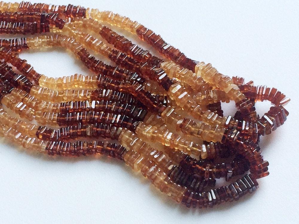 hessonite heishi beads natural hessointe garnet spacer
