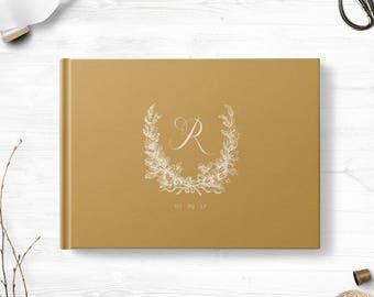 Simple guest book, Landscape or Portrait, Wedding guest book, Various colors