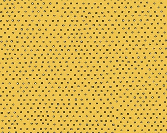 Pixie Square Dot Blender by Ink & Arrow Fabrics - Square Dot in Gold (24299-S) - Ink and Arrow- 1 Yard