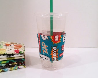 Eco-Friendly Cofffee/Tea Sleeve - Bam Pow Zap