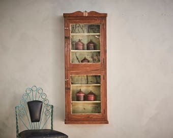 Wall Display Cabinet Large Spice Rack Hanging Curio Kitchen Storage