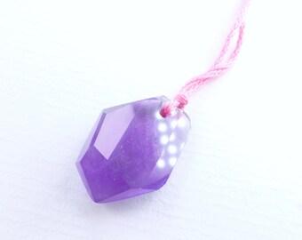 Grape AMETHYST Focal Bead. Natural. African Grape Jelly Color. Tavernier Cut. RoCk CAnDy GeM. 14.2 cts. 22x15mm  (AM1513)