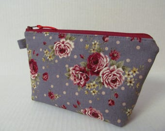 Zipper Pouch/Rose