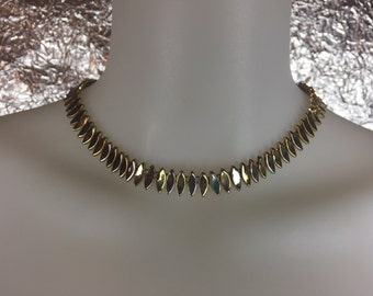 Vintage 1970's Modernist Two-Tone Silver and Gold Necklace