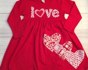 Valentine's Dress for Girls, Valentine Dress, Toddler Girl's Valentine Dress