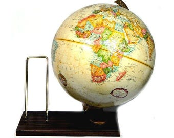 Replogle World Classic Series 12 Inch Globe on Wood Stand with Book Holder