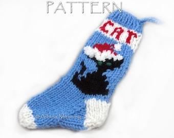 Pattern Christmas Santa Cat Stocking Ornament PDF