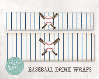 Baseball Water and Gatorade Wraps INSTANT DOWNLOAD by Beth Kruse Custom Creations