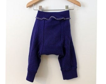 Purple Wool Knickers Size Med