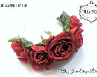 Red Roses Music Festival Flower Crown