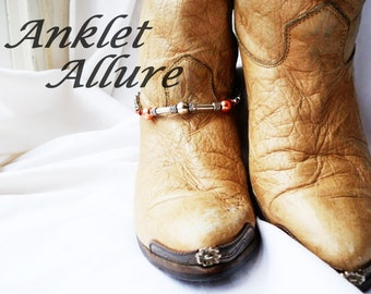 SINGLE BoHo Boot Chains Silver Boot Jewelry Biker Boot Bracelets Copper Foot Jewelry