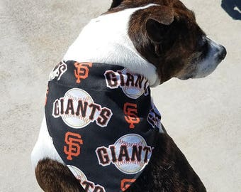 SF Giants MLB Dog Bandana, Giants Dog Bandana, Sports Dog Bandana,