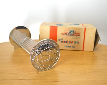 1964 New York World's Fair Cracker Tray Unisphere