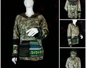 Unisex wool rich elf hoodie upcycled by Niknok