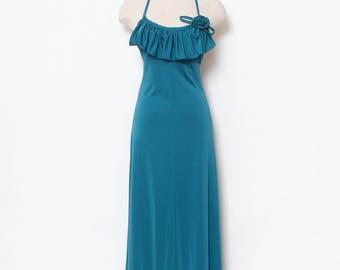 Vintage 70s Maxi Dress / Disco Dress / Vintage Dress / dress / retro / 1970s / Dress Long / party / Dresses / Maxi Dress / Halter dress