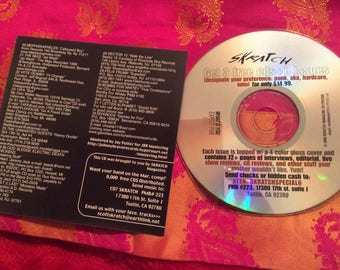 Skratch rock magazine CD vol. 6 underground rock Music sampler: 32 songs