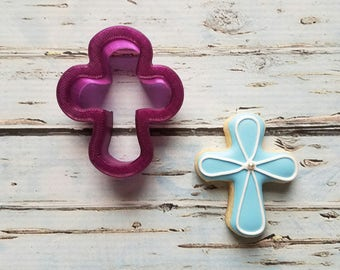 Chubby Cross Cookie Cutter or Fondant Cutter and Clay Cutter