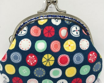 Handmade Coin Purse - Colorful of Circle