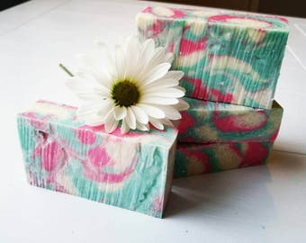 PREORDER 4/30/17 Sweet Pea Soap, Frangrance Oil, Pretty Soap, Artisan Made, Luxurious Spa Soap, Handmade, Skin Loving, Gifts For Her, Work