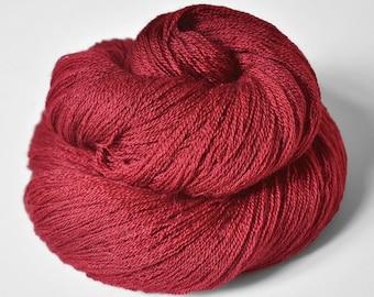 Retired blood queen OOAK - Merino/Silk/Cashmere Fine Lace Yarn