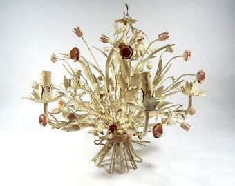 Vintage Tole Chandelier  So 'Chic', So French...or maybe 'So Italian'!