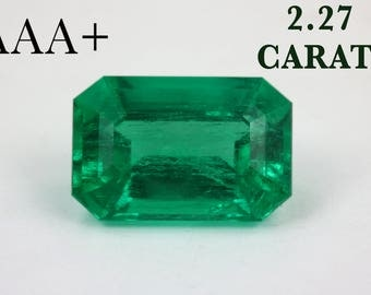 2.27ct Investment Rich Green Emerald, Colombian Emerald, Loose Colombian Emerald, Columbian Emerald, Emerald, Emerald Cut Emerald