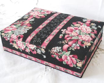 red fabric jewelry box fabric covered box red trinket box