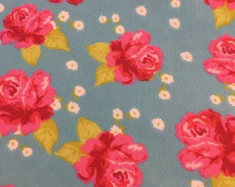 Roses - Cotton Flannel Fabric - BTY