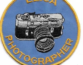 Vintage Leica Photographer Patch