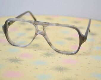 1970s NOS Kid's Gray Plastic Eyeglasses