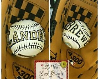 Custom Embroidered Baseball