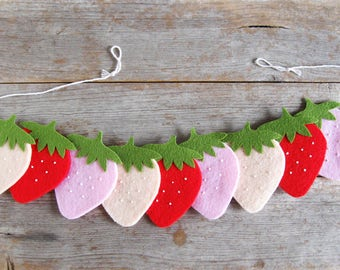NEW Felt Strawberry Bunting