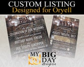 Oryell's Wedding Invitation sets: 175, with extra insert card, double sided printing, and white envelopes