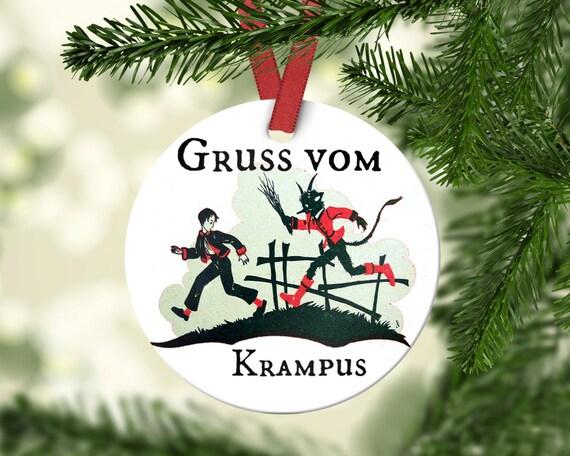 Gruss vom Krampus Ornament