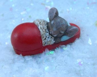 Miniature Christmas Mouse Fairy garden Mouse Fairy Garden Accessories Night before Christmas mouse Christmas Miniatures