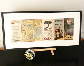 Vintage Poster | Vintage Map | Vintage Map Poster | Wall Art | Wall Decor | Housewarming Gift | Australian map | Gift for husband |