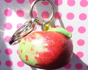 Tart McIntosh apple - polymer clay charm