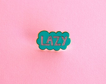 Enamel Pin Lapel Pin Lazy Cloud Gifts under 10