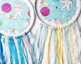 Blue Astronaut Dreamcatcher, Kids Room Decor, Large Dream Catcher, Birthday Boy, Space Room