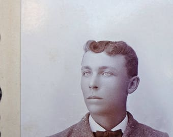 "Cabinet Photo / Cabinet Photograph / Young Gentleman Photograph / Antique Photograph 1800's / Paper Ephemera  3""x4"" (AA1)"