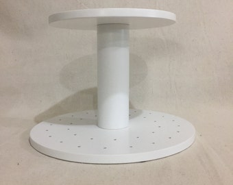2 Tier Round Custom Made Cake Pop Stand. No Base.  Holds 48 Cake Pops.