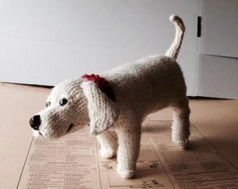 Knitted dog - custom large