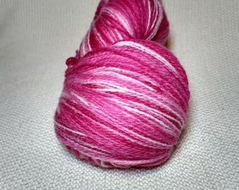 Kauni Wool Yarn, Self-Striping, Pink White Gradient, 2ply