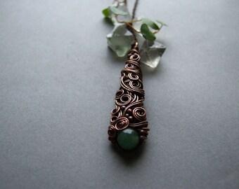 Green Nephrite Necklace, Bohemian Healing Stone Jewelry, Woodland Green Nephrite Pendant, Nephrite Necklace