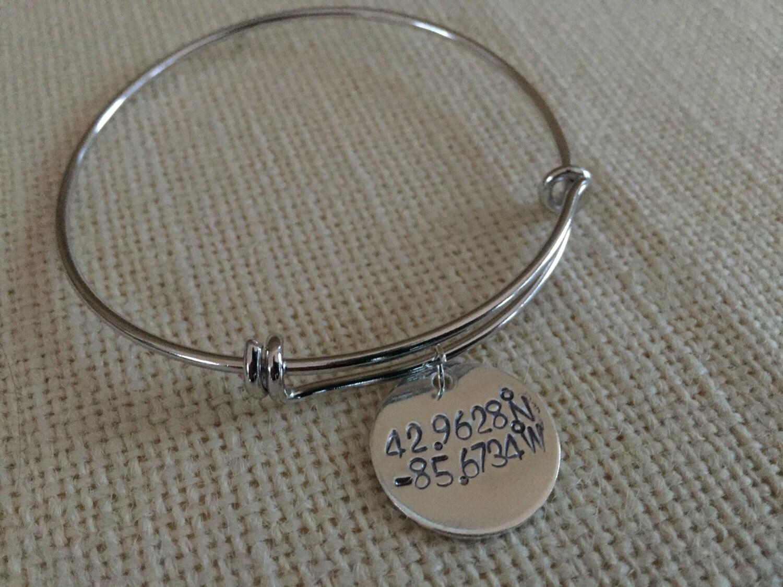 custom coordinate bracelet coordinates bracelet