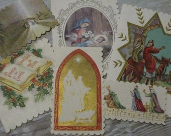 Lg Charming VINTAGE 1940s-60s Christmas Gift Tags Set of 6 Handmade By  VINTAGE Repurposer ahead of her time, Meticulous & Sweet, See IDEAS!